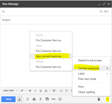 How to create an email template in gmail no html no for Compose email template