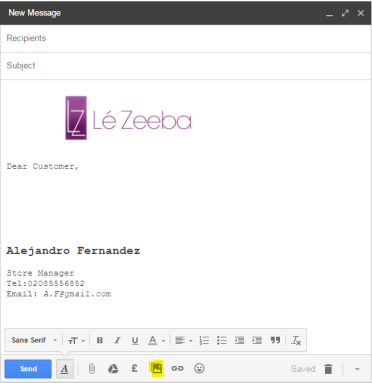 email template in gmail every time you compose an email